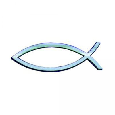 Рибка за кола - Сребрист цвят