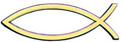 Рибка за кола - Златист цвят