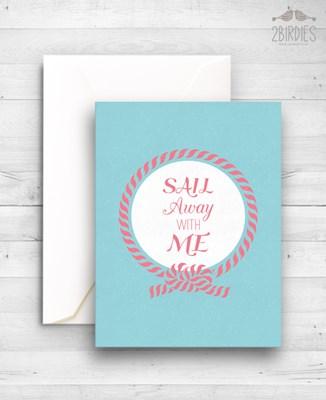 """Картичка """"Sail Away With Me"""" [Подаръци/Сувенири]"""