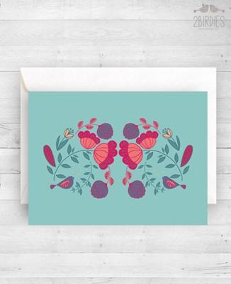 """Картичка """"Цветя"""" [Подаръци/Сувенири]"""