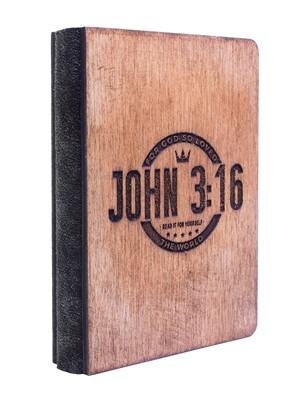 Дървен бележник - John 3:16 [Подаръци/Сувенири]