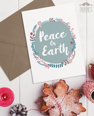 "Картичка ""Peace On Earth"" [Подаръци/Сувенири]"