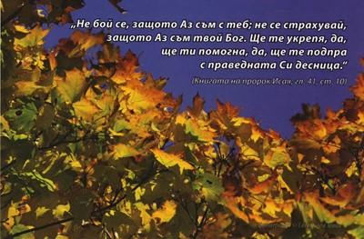 Еднолистна картичка със стих - Исая 41:10 [Подаръци/Сувенири]