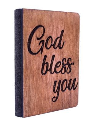 Дървен бележник - God Bless You [Подаръци/Сувенири]
