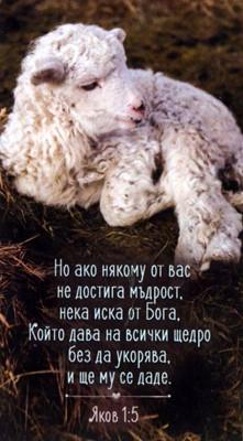 Мини картичка - Яков 1:5 [Подаръци/Сувенири]