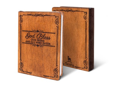 Дървен тефтер - God Bless (S) [Подаръци/Сувенири]
