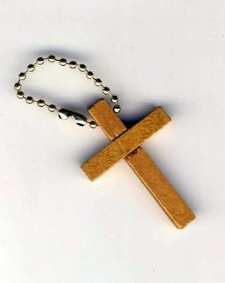 Дървен ключодържател - кръст [Подаръци/Сувенири]
