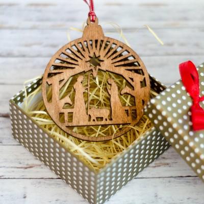 Дървена играчка за елха - Рождество [Подаръци/Сувенири]