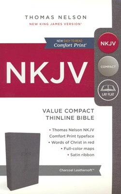 NKJV Value Compact Thinline Bible, Imitation Leather, Black [Подаръци/Сувенири]