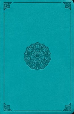 ESV Value Compact Bible (TruTone Imitation Leather, Turquoise with Emblem Design)