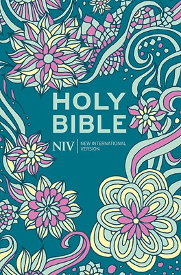 NIV Pocket Floral Hardback Bible (New International Version) (твърди корици)