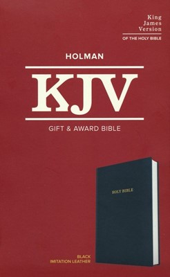 KJV Gift and Award Bible--imitation leather, black