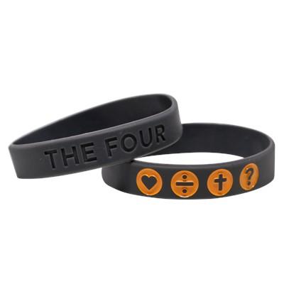 Гривна THE FOUR - сив цвят с оранжево - 180мм [Подаръци/Сувенири]