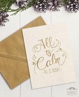 "Картичка ""All is calm, all is bright"" [Подаръци/Сувенири]"