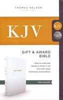 KJV, Gift and Award Bible, Imitation Leather, White
