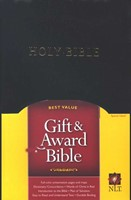 NLT Gift and Award Bible, Imitation Leather, Black