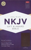 NKJV Gift and Award Bible, Brown Imitation Leather