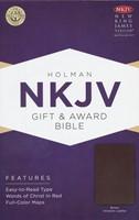 NKJV Gift and Award Bible, Brown Imitation Leather