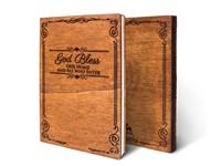 Дървен тефтер - God Bless (M)