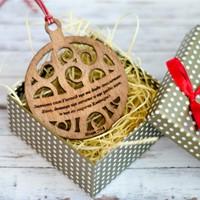 Дървена играчка за елха с библейски стих - Исая 7:14 [Подаръци/Сувенири]