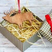 Дървена играчка за елха - Елен [Подаръци/Сувенири]