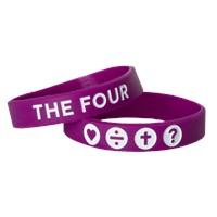 Гривна THE FOUR - лилав цвят - 180мм