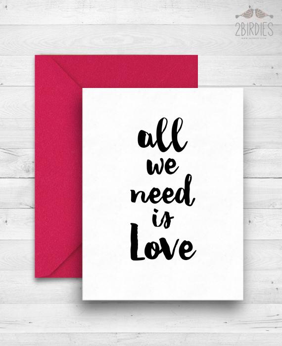 """Картичка """"All We Need Is Love"""""""