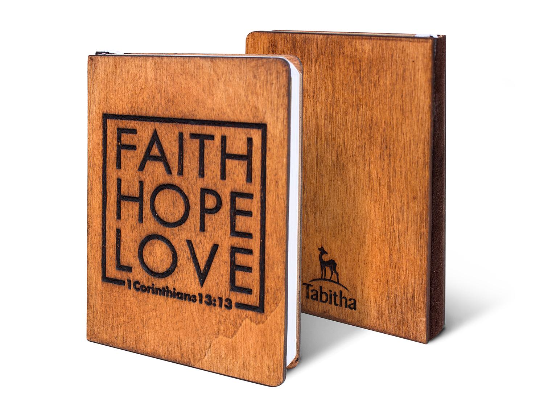 Дървен тефтер - Faith, Hope, Love (S)