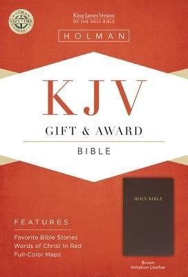 KJV Gift & Award Bible, Brown Imitation Leather