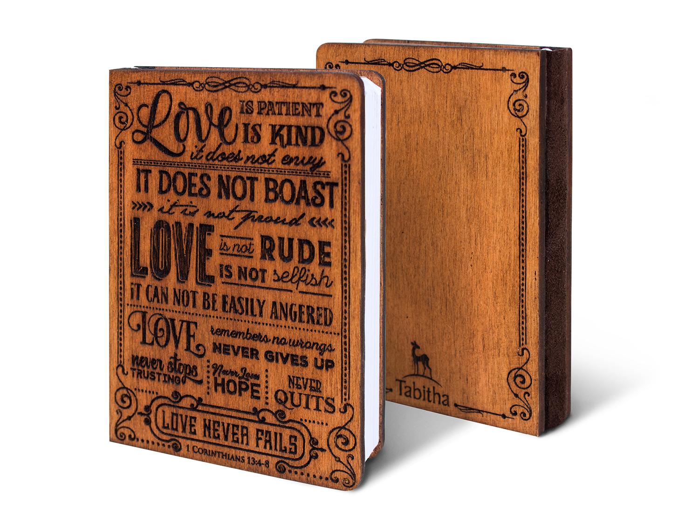 Дървен тефтер - 1 Corinthians 13:4-8 (S)