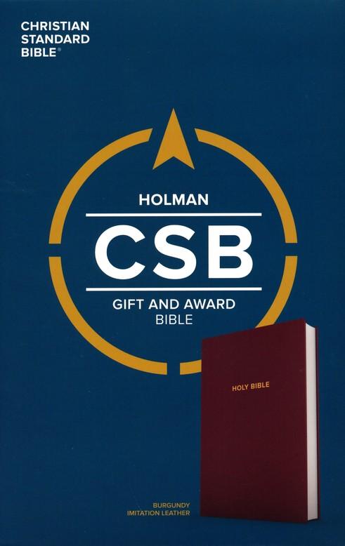 CSB Gift & Award Bible, Burgundy