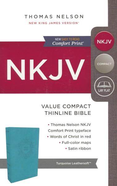 NKJV Value Compact Thinline Bible, Imitation Leather, Blue