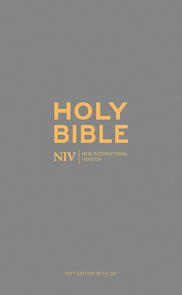 NIV Pocket Charcoal Soft-tone Bible with Zip (New International Version)