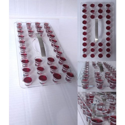 Поднос за чашки за Господна вечеря за 32 чашки - прозрачен