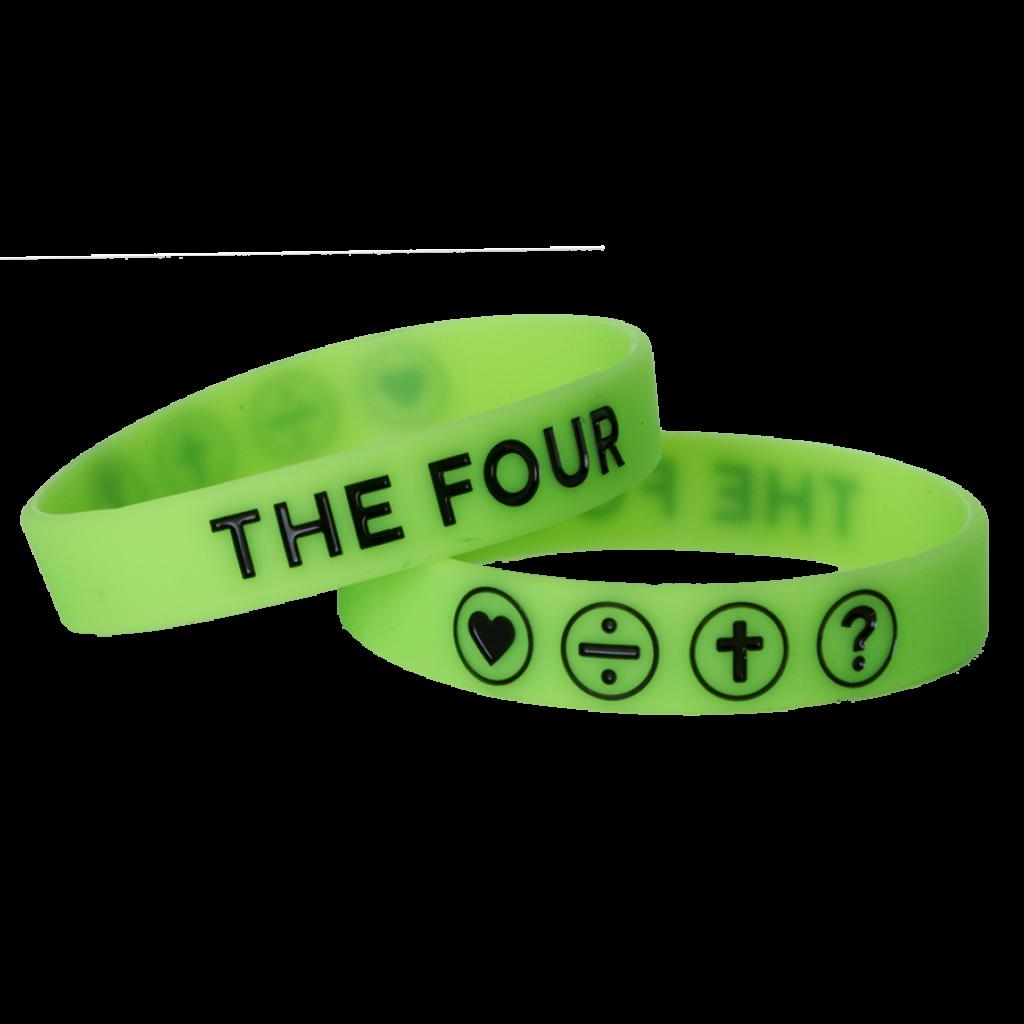 Гривна THE FOUR - неоново зелен цвят - 150мм