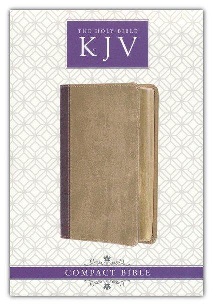KJV Compact Bible--imitation leather, brown/tan