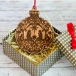 Дървена играчка за елха - Рождество (2)