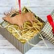Дървена играчка за елха - Елен